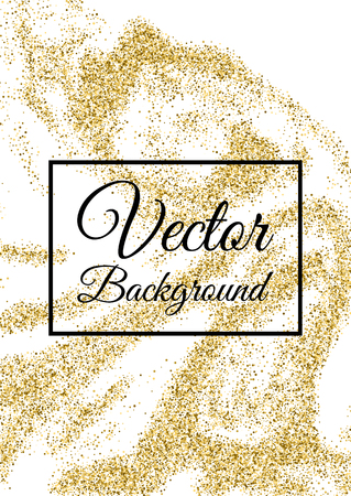 Abstract Gold Glitter Template For Birthday Party Wedding