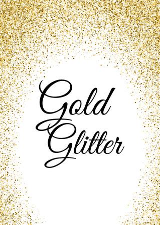 Modèle abstrait de paillettes d'or pour la fête d'anniversaire, invitations de mariage, bannière, flyer. Illustration vectorielle Banque d'images - 76639336