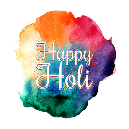 Traditional indian holiday. Colorful Holi festival background for posters, flyers, banners. Illustration