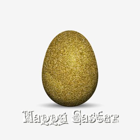 Uova di Pasqua Glitter Glitter. Illustrazione vettoriale isolato su uno sfondo bianco.