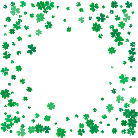 st  patrick's day: St. Patricks day background with the flying clovers. Illustration