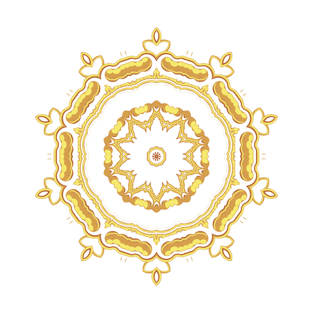 Gold pattern for the cards,  invitations, book page decoration with Islam, Arabic, Indian or ottoman motifs.