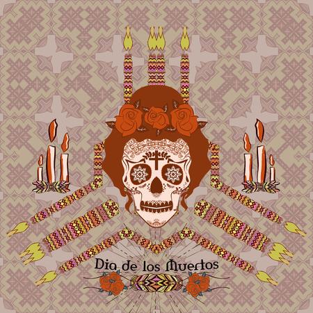 Altar Dia de los Muertos (Day of the Dead).