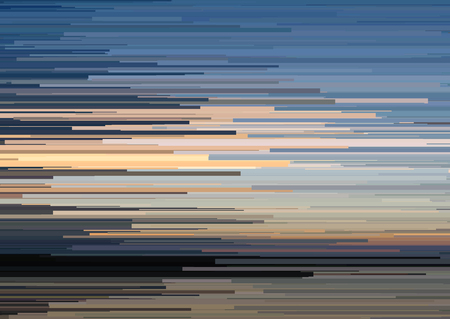 Abstract background with glitched horizontal stripes, stream lines. Concept of aesthetics of signal error. Glitch effect distorsion, digital decay background for a poster, cover, design concepts, banners, web presentations and prints. Vector illustration.