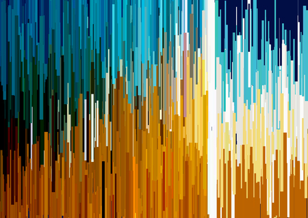Abstract background with glitched vertical stripes, stream lines. Concept of aesthetics of signal error. Glitch effect distorsion, digital decay background for a poster, cover, design concepts, banners, web presentations and prints. Vector illustration. Illustration