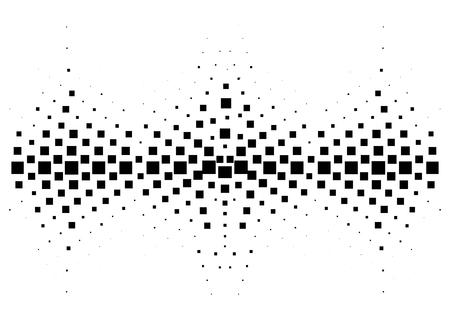 Mezzitoni onda sonora in bianco e nero. Elementi di design musica tech isolati su sfondo bianco. Perfetto per web design, poster, banner musicali, sfondi, cartoline.