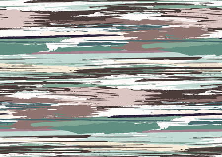 Vector seamless pattern with hand drawn rough edges textured brush strokes and stripes hand painted. Black, pink, green, brown colors.
