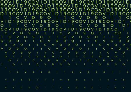 Coronavirus background halftone. Modern vector illustration. Covid-19 outbreak concept. Monochrome black and white geometric pattern. Graphic design geometric shape. Banner background. Vektoros illusztráció