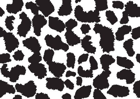 Abstract styled animal skin leopard seamless pattern design. Jaguar, leopard, cheetah, panther fur. Black and white seamless camouflage background.