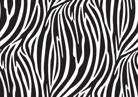 Modèle sans couture de zèbre dans un style abstrait sur fond noir. Illustration vectorielle. Camouflage. Échantillon sans couture dans le panneau d'échantillons