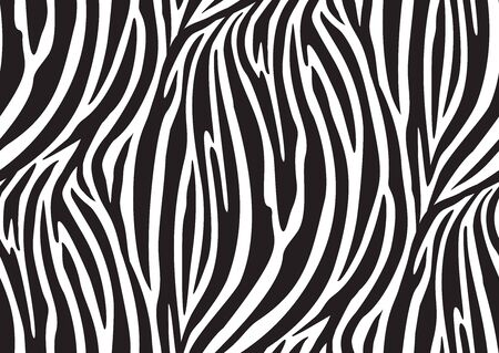 Zebra seamless pattern in abstract style on black background. Vector illustration. Camouflage. Seamless swatch in the swatches panel