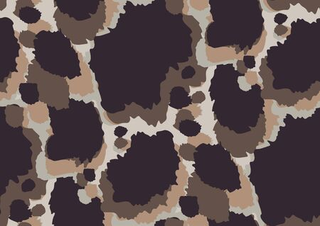 Bold abstracted leopard skin seamless pattern design. Jaguar, leopard, cheetah, panther animal print. Seamless camouflage background. Illustration