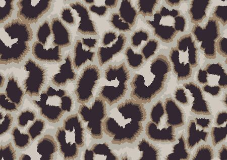 Bold abstracted leopard skin seamless pattern design. Jaguar, leopard, cheetah, panther animal print. Seamless camouflage background.