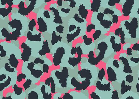 Bold abstracted leopard skin seamless pattern design. Jaguar, leopard, cheetah, panther animal print. Seamless camouflage background. Ilustrace