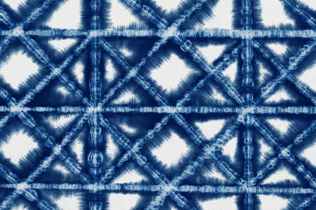 Indigo Blue Shibori Tie dye fabric texture pattern. White and Blue colors. Reklamní fotografie