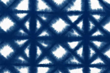 Indigo Blue Shibori Tie dye fabric texture pattern. White and Blue colors. Stock fotó