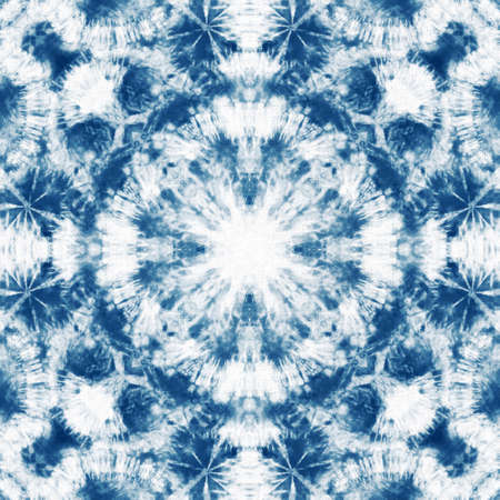 Tie dye seamless tile pattern. Watercolor pattern design on subtle white fabric texture.