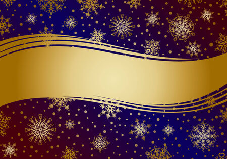 crystallization: Invitation card with snowflakes.  Illustration