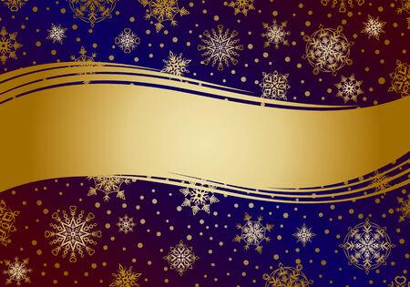 Invitation card with snowflakes.  Illustration