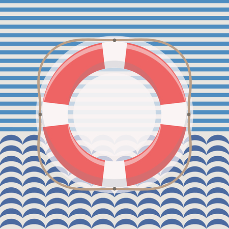 Nautical frame with lifebuoy