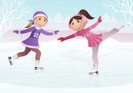 フィギュア スケート  イラスト・ベクター素材