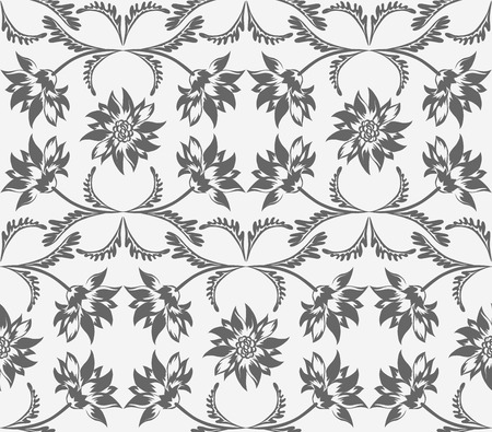 victorian wallpaper: Wedding floral seamless pattern. Victorian style. Decorative wallpaper. Vector illustration. Illustration