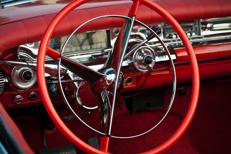 Detail of a classic car photo