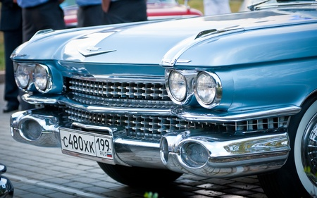 MOSCOW, RUSSIA-JULY 31: silver buick in exhibition parking at an annual event, the VI race of vintage cars Night Moscow Classic Rally. July 31, 2010 in Moscow, Russia