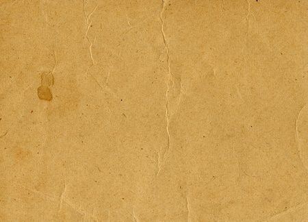scan paper: Old yellowed vintage paper horizontal background, scan texture Stock Photo
