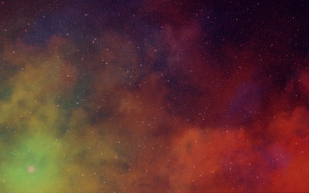 innumerable: Deep dark space nebulae art background color red