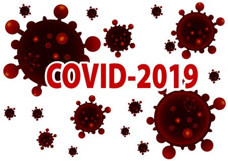 Vector illustration marked as infected with a coronavirus named Covid-19.