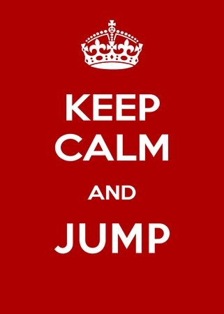 Vertical red and white motivational poster KEEP CALM
