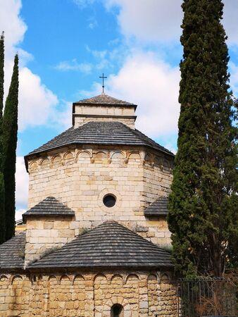 Medieval architecture in european old town Stok Fotoğraf