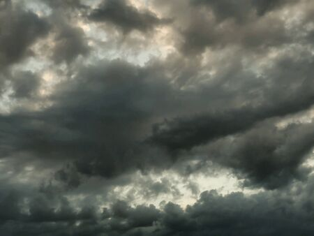 BlAck and gray clouds in summer storm
