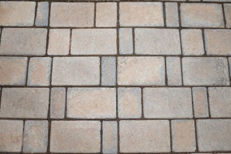 Paving gray tile-paved courtyard.