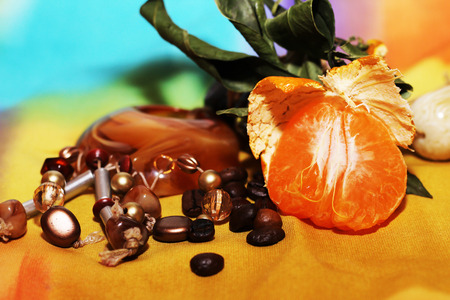 orange and cinnamon sweet dark chocolates happy new year stock photo 70815859