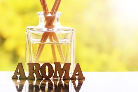 flavor air home perfume, aroma letters, beauty Stock Photo