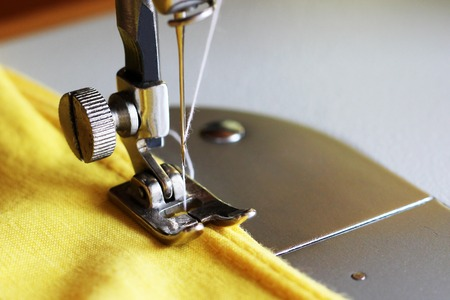 Close-up detail of the sewing machine, style