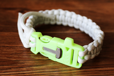 Braided bracelet for the safety of the fisherman, glows in the dark