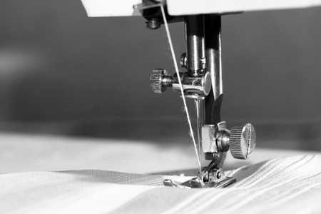Sewing machine close-up