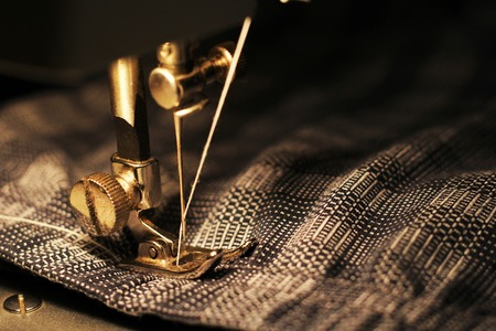 Sewing machine, close-up, object hobby and work