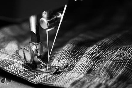 Maszyna do szycia, zbliżenie, obiekt hobby i praca