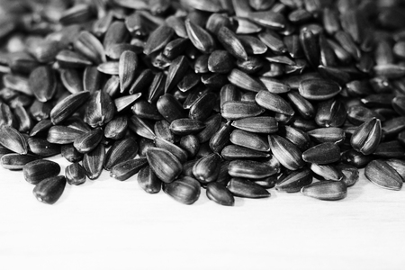 Black sunflower seeds. For texture or background. Food