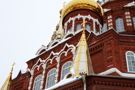 The Golden dome and the cross, Christianity, religion
