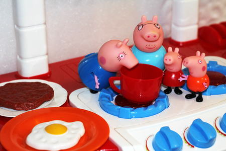 Adorable pig toys and cooking ware