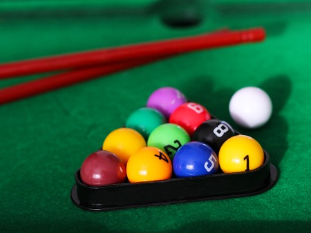 Billiard balls, childrens toy. Hobbies and sports
