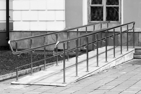 Ramp for wheelchair entry, outdoor object, nobody Stock fotó