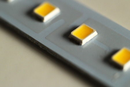 Diode strip. Led lights tape close-up, macro