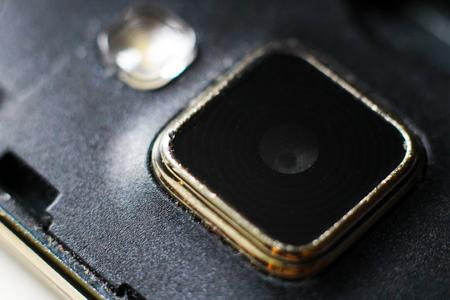 Close up of a Mobile Phone Camera, macro Reklamní fotografie