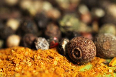 Various spices for cooking so close, macro